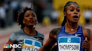 Elaine Thompson eclipses Dina Asher-Smith at the wire in 100m dash | NBC Sports