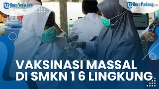 Mengejar Percepatan Capaian Vaksinasi di Kota Padang, Ratusan Pelajar Ikut Vaksinasi Massal