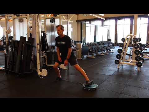 Lateral Cable Lunge