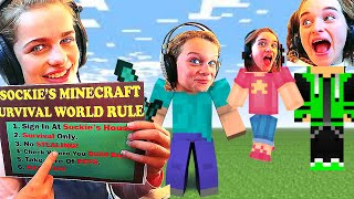 YOU MUST PLAY BY SOCKIE'S RULES IN MINECRAFT SURVIVAL ep 2 Gaming w/ The Norris Nuts