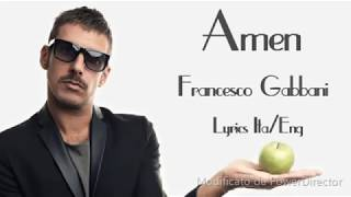 Francesco Gabbani-Amen Lyrics (Sub Ita/Eng)