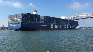 VIDEO: Huge containership inaugurates raised Bayonne Bridge