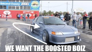 Racing at Import Faceoff... We want to call out the BOOSTED BOIZ!!!