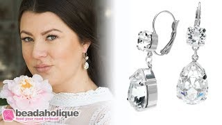Quick, Easy & Elegant Wedding Jewelry: Bridal Earrings Featuring Swarovski Crystals