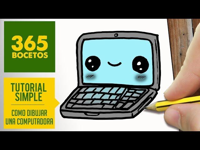 Como-dibujar-una-computadora-kawaii