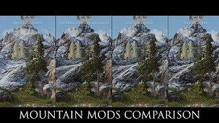 Skyrim SE Mods: Mountain mods Comparison
