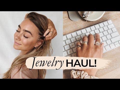 JEWELRY HAUL! Miranda Frye, Vanessa Mooney, Mejuri | Julia Havens
