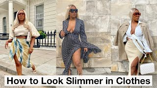 HOW TO INSTANTLY LOOK SLIMMER IN CLOTHES 2021 | Styling tips/hacks & Outfit ideas | CURVY FASHION