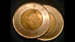 Two-Dollar Circulating Canadian Coins