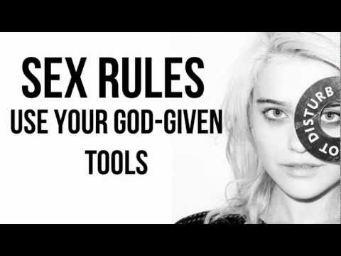 Sky Ferreira - Sex Rules w/ lyrics on the screen!