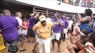 The Ques Show OWT at the 2016 Fantastic Voyage Greek Party