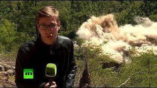 Корреспондент RT стал свидетелем уничтожения ядерного полигона в КНДР