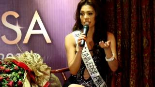 Mary Jean Lastimosa Miss Universe Philippines 2014 shares her experience in a homecoming Press Conference.