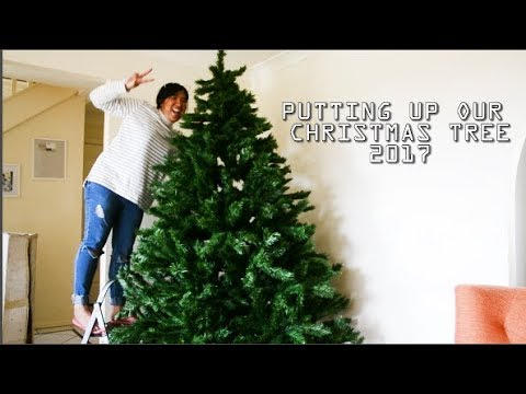 PUTTING UP OUR CHRISTMAS TREE 2017