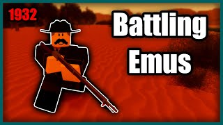 Battling Emus In Roblox.
