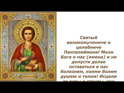 Моление ко святому великомученику и целителю Пантелеймону преосвященного Иеремии-отшельника