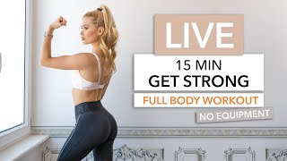 A NEW Full Body Routine, to build strength and muscle - LIVE tomorrow (Wednesday) at 10am European Time ♥︎   ▸ 10am Central European Time ▸ 9am UK Time ▸ 1:30pm India Time ▸ 1am Pacific Time (late night session? sorry again)   This routine is quite different from what we normally do. We will do the movements suuuuuper slow and controlled - to keep the tension as long as possible in the muscles, to build maximum strength.   No High Intensity, rather slooooow motion :) Those 15min will be fun - you got this! No excuses guys!  __  No Equipment needed. No Rests. Not much space needed.  ▸ You can find free WORKOUT SCHEDULES on my Instagram Channel. I saved them in my highlights. ➞ Instagram http://www.instagram.com/pamela_rf/  __  ➞ Instagram http://www.instagram.com/pamela_rf/ ➞ Food Account http://www.instagram.com/pamgoesnuts/   __ Music by Epidemic Sound http://www.epidemicsound.com