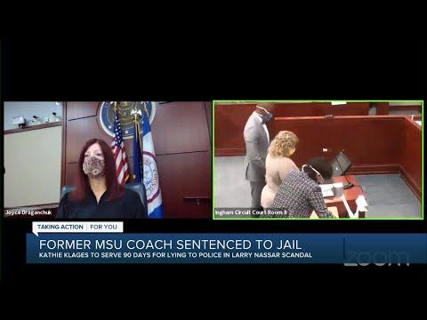 Ex-MSU gymnastics coach sentenced to 90 days in jail in Nassar-related case