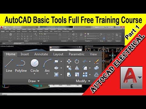 AutoCAD Electrical - Basic Draw Toolbar Full Free Beginners ...