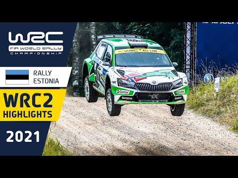 WRC2 2021 第7戦ラリー・エストニア 金曜日のハイライト動画