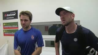Daniel Vala a Lukáš Soukup po vítězství v 1. kole deblu ITF Valašské Meziřičí