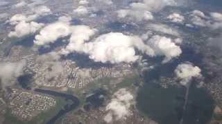 Пролёт над Москвой с севера на юг в  Домодедово.