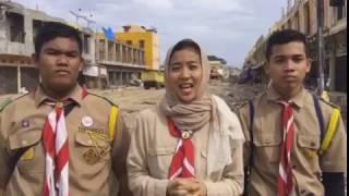 Salam Pramuka Kak Olivia Zalianty Dari Lokasi Gempa Aceh