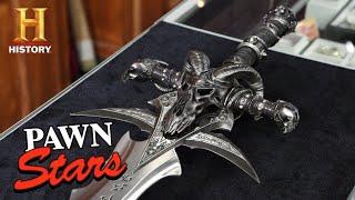 Pawn Stars: HIGH VALUE RARE LOOT: World of Warcraft Frostmourne Sword (Season 17) | History
