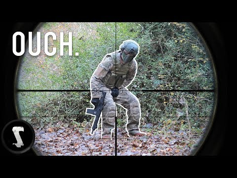 Airsoft CHEATERS Get Instant Karma (Shot in the B*LLS & Full-Auto Minigun)