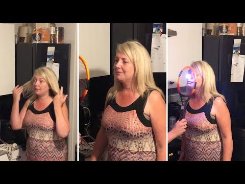 Hilarious Moment Woman Is Zapped With Fly Swat