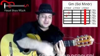 Gitar Dersi 28 (Ritim Akor) Gm Akoru Ve Güllerin İçinden