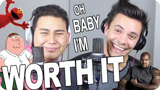"""Fifth Harmony - """"Worth It"""" Improv Impersonation Challenge COVER (Live One-Take)"""