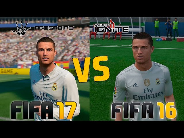 FIFA 17 Vs FIFA 16 GRAPHICS AND FACES COMPARISON Next Gen Gameplay
