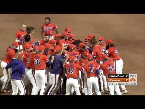 Clemson Baseball || Wake Forest Game Highlights - 4/21/17