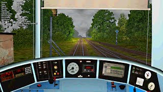 preview picture of video '[HD] OpenRails: MÁV 13-as vasútvonal (Kisbér-Bánhida) 2014.01.09'