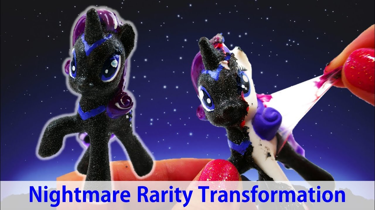 DIY My Little Pony Custom - Transforming Nightmare Rarity Peeling Off