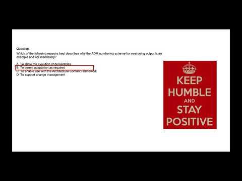 Enterprise Architecture Practice Exam - ADM (Architecture ...
