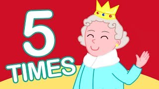 5 Times Table Song (1-10) | Learn Math for Kids (X5 Multiplication Song)