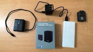 GoPro Dual Camera Battery Charger & Battery for HERO 7 Black, HERO 6, 5 & Hero 2018