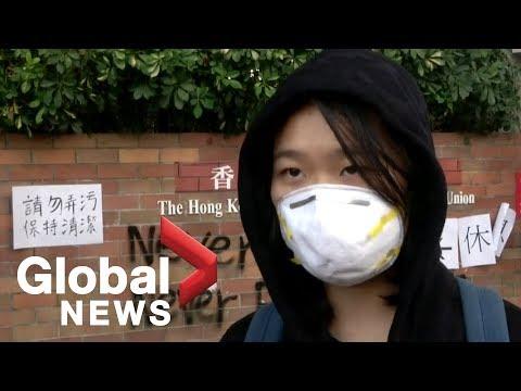 About 100 students remain inside Hong Kong university amid standoff