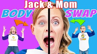 Body Swap! Jack and Mom Accidentally Swap Bodies! Fun Squad Funny Adventures!