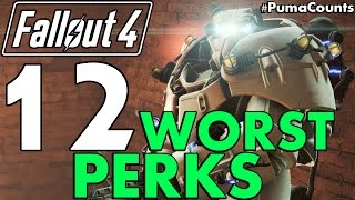 Top 12 Worst Perks Guide in Fallout 4 (WORST IN THE GAME! POST-NUKA WORLD) #PumaCounts