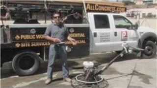 Concrete & Masonry : How to Use a Concrete Power Trowel