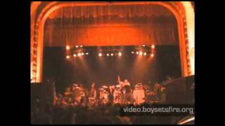 "boysetsfire ""Cavity"" from Live Farewell DVD"