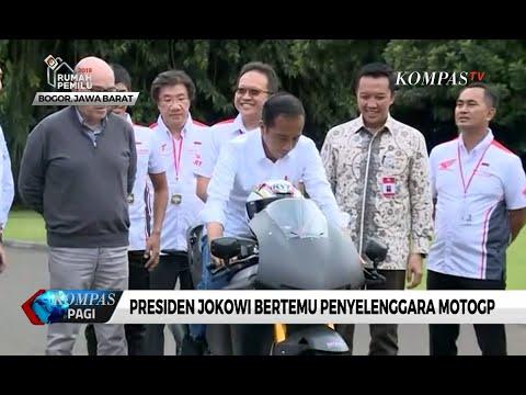 Presiden Jokowi Jajal Motor MotoGP di Istana Bogor