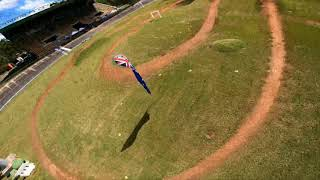DJI FPV promotional race event - when you race the freestyle rig...