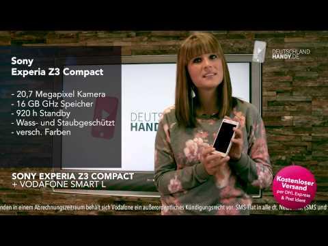Sony Experia Z3 compact + Vodafone Smart L Handyvertrag bei deutschlandhandy.de