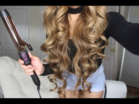 How to get BIG SEXY CURLS Tutorial   Bombay Hair Rose Gold Clamp Curling Wand