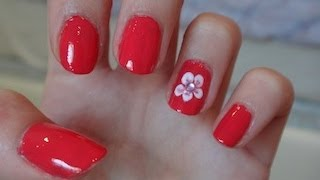 Easy Flower Nail Design! | CloeCouture