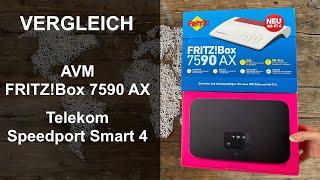DSL-Router Vergleich: AVM FRITZ!Box 7590 AX und Telekom Speedport Smart 4